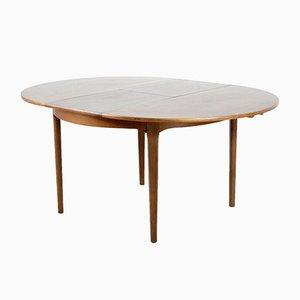 Tavolo da pranzo Mid-Century allungabile in teak di Nathan, anni '60