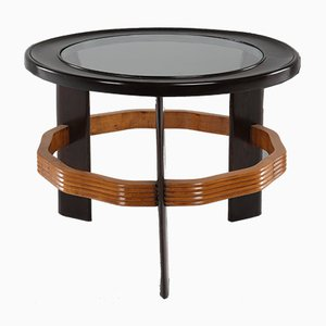 Coffee Table in Wood and Glass by Vittorio Valabrega, 1940s