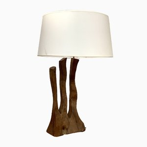 Light Rosewood Table Lamp, France 1960s