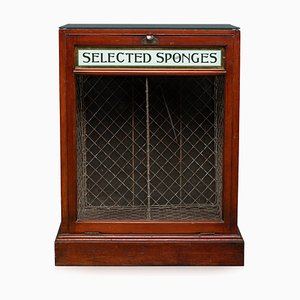 20th Century English Shop Display Cabinet Promoting Selected Sponges, 1920s