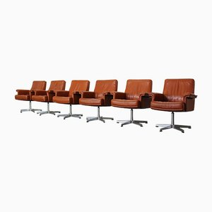 Leather DS-35 Office Chairs from De Sede, Set of 6