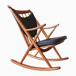 Mid-Century Danish Teak Rocking Chair by Frank Reenskaug for Bramin, 1960s