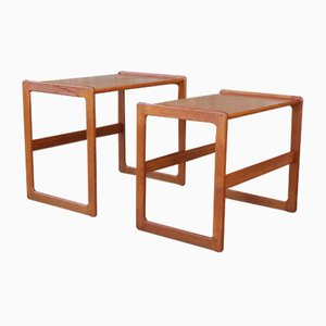 Tables Gigognes Vintage en Teck par Arne Olsen Hovmand pour Mogens Kold, 1960s, Set de 2