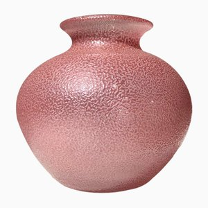 Swedish Pink Textured Glass Vase from Orrefors