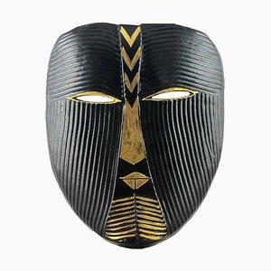 Vintage Stoneware Wall Mask in Black by Lisa Larson for Gustavsberg
