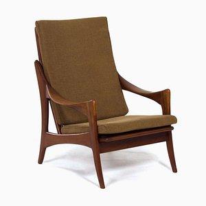 Organischer Teak Sessel mit Hoher Rückenlehne von De Ster, 1960er