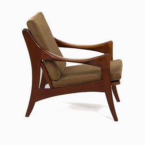 Organic Teak Easy Chair with Low Back from De Ster, 1960s