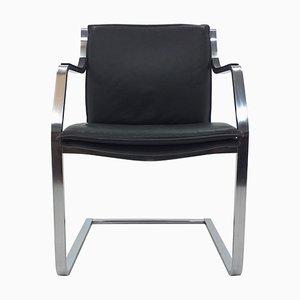 Mid-Century Leather Art Collection Chair by Rudolf B. Glatzel for Walter Knoll / Wilhelm Knoll, 1980s