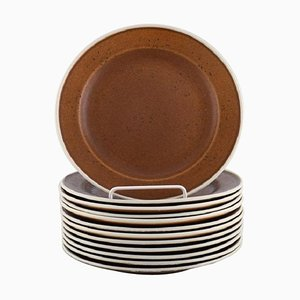 Piatti Coq Deep Plates di Stig Lindberg per Gustavsberg, anni '60, set di 12
