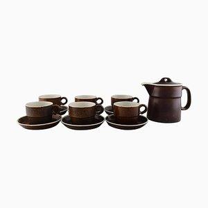 Coq Tea Service Set by Stig Lindberg for Gustavsberg, 1960s, Set of 13