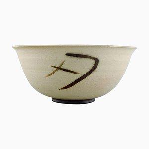 Bowl in Glazed Stoneware by Anne-Sophie Runius, Sweden, 1980s