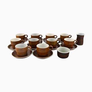 Coq Coffee Set by Stig Lindberg for Gustavsberg, 1960s, Set of 22