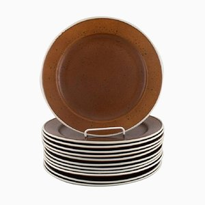 Coq Dinner Plates by Stig Lindberg for Gustavsberg, 1960s, Set of 12