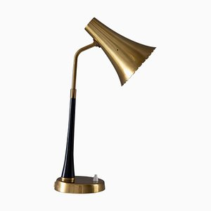 Mid-Century Scandinavian Desk Lamp in Brass from Asea