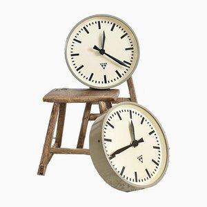 Round Vintage Czech Clock from Pragotron