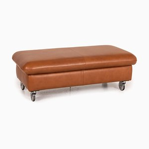 Loop Brown Leather Stool from Willi Schillig