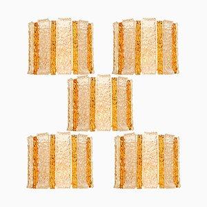 Vergoldete und Eisglas Wandleuchte von JT Kalmar, Österreich