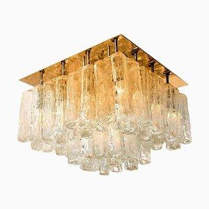 Granada Deckenlampe aus Glas & Messing von Kalmar, Österreich, 1960er