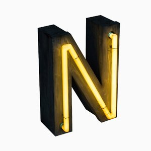 Neon Vintage Letter N