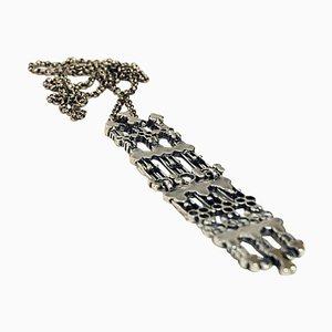 Lange Silberkette von Marianne Berg für Uni David-Andersen, 1960er