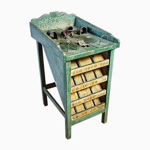 Brocante Spieltisch in Grün, 1930er