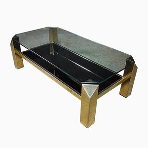 Smoked Glass & Gold Coffee Table from Belgo Chrom