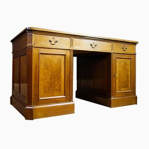 Antique Desk with Inlaid Leather, 1920s