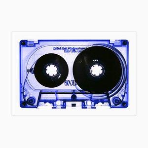 Tape Collection, Blau getönte Kassette, Pop Art Farbfoto, 2021