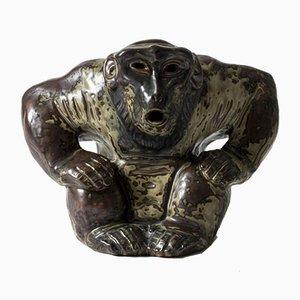 Stoneware Monkey Figurine by Knud Kyhn