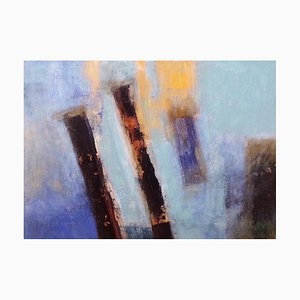 Patricia McParlin, Transient, Abstract, Mixed Media on Canvas, 2006