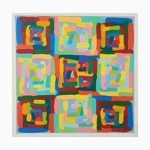 Felix Akulw, Wax and Wane, Abstract Painting, 2020