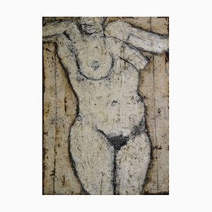 John Emanuel, Standing Figure, Figurative Oil Painting, 1980