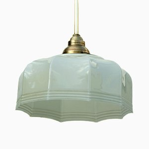 Rod Pendant Luminaire with Glass Shade