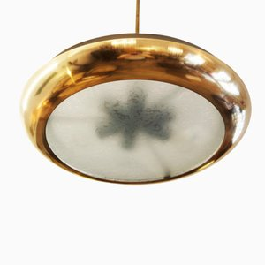 Grande Lampe à Suspension Style Bauhaus par Josef Hurka pour Napako, 1938