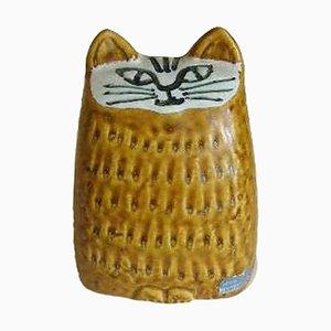 Limited Edition Steingut Marslev Figurine einer Kleinen Katze von Lisa Larson für Gustavsberg, 1962
