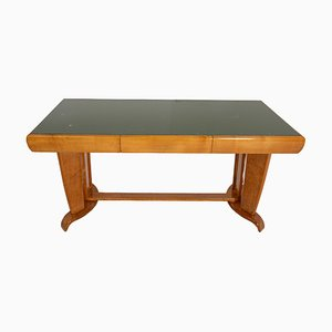 Desk in Maple and Opaline Glass Attributed to Paolo Buffa, 1940s