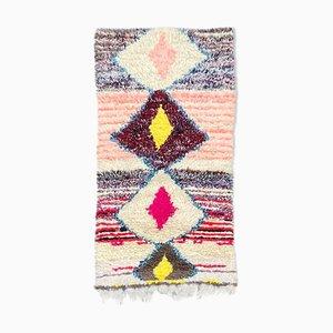 Kleiner Vintage Berber Boucherouite Teppich