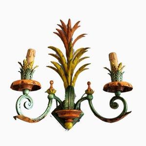 Lackierte italienische Mid-Century Wandlampen, 2er Set
