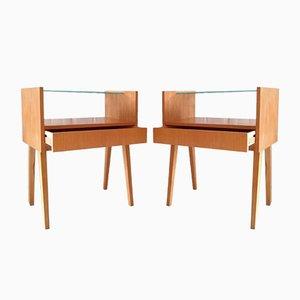 Tables de Chevet Mid-Century, Tchécoslovaquie, 1970s, Set de 2