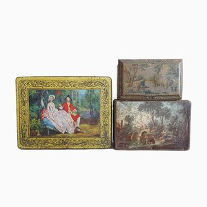Antique Tin Cans, Set of 3