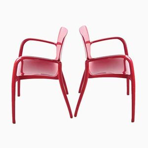 Stacking Chairs by Marcello Ziliani for Casprini, Set of 4