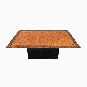 Table de Bureau ou de Salle à Manger en Broussin d'Érable et Palissandre par Oscar Dell'Arredamento pour Miniforms, 1970s