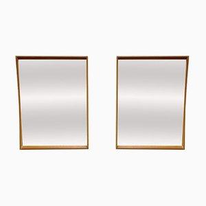 Vintage Teak Wall Mirrors, Set of 2