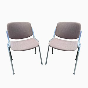 DSC 106 Chairs by Giancarlo Piretti for Castelli, Set of 2