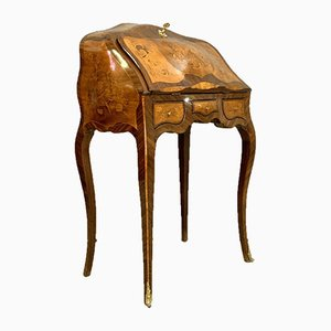 Louis XV Curved Precious Wood Inlaid Dresser