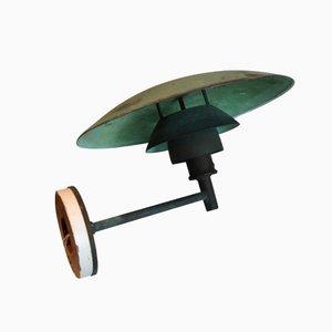 Lampe d'Extérieur, Modèle PH 4.5, en Cuivre par Poul Henningsen pour Louis Poulsen