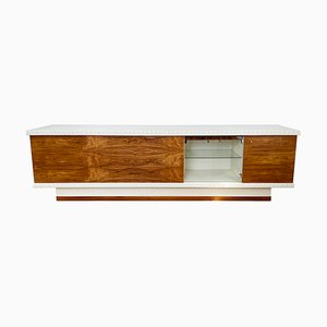 Mid-Century East German Rosewood and White Sideboard or Drinks Cabinet, 1970s