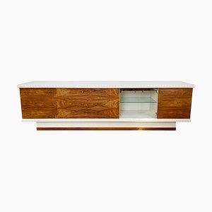 Mid-Century Mid-Century Sideboard oder Barschrank aus Palisander & Weißem Design, 1970er