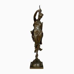 Patinated Bronze Sculpture by Augustin Moreau Vauthier
