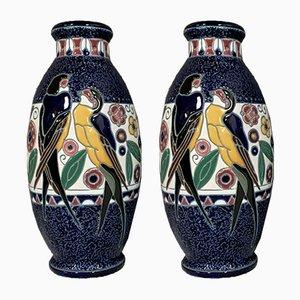 Art Nouveau Large Vases, Set of 2